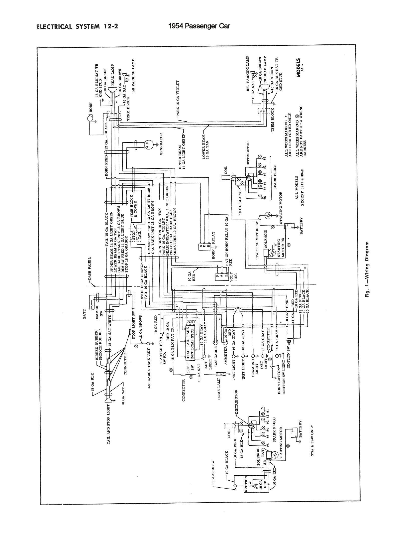 1954 Truck Wiring · 1954 Passenger Car Wiring 3