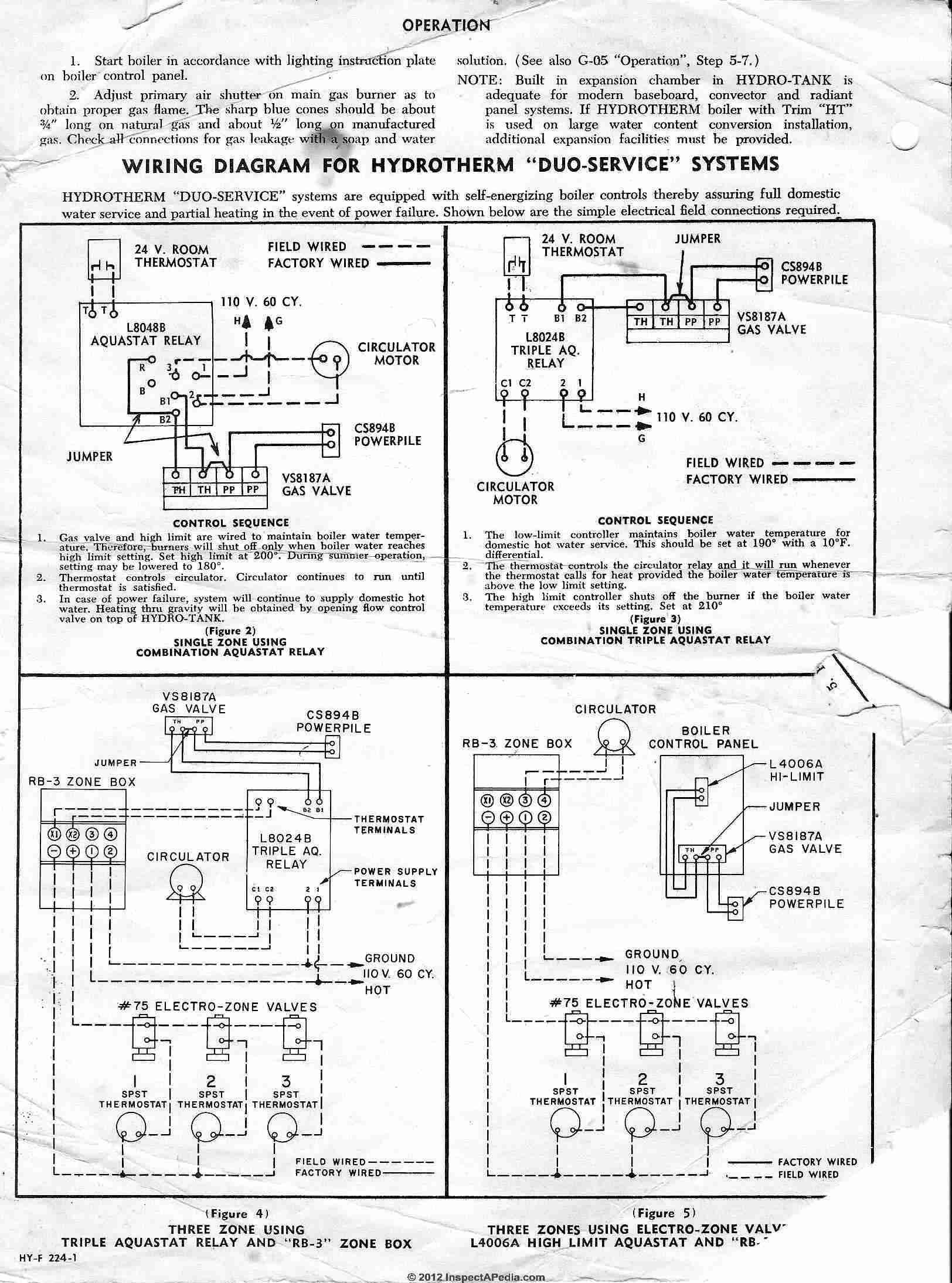 honeywell 8124 aquastat wiring diagram wiring diagram for light rh prestonfarmmotors co Honeywell Boiler Aquastat Aquastat Relay Type L8148E Problems
