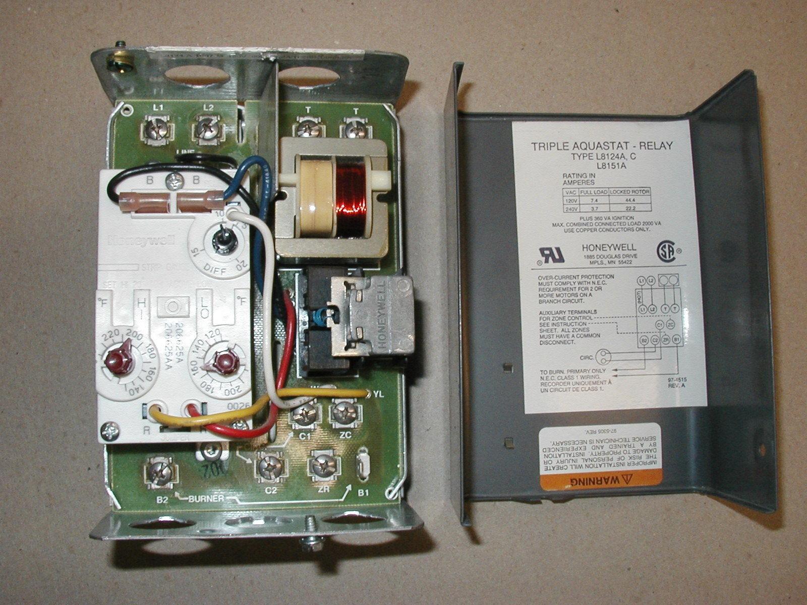 Triple Aquastat Relay Type L8124a C Honeywell Boiler Wiring Diagram Inspirational Image Rh Mainetreasurechest Com