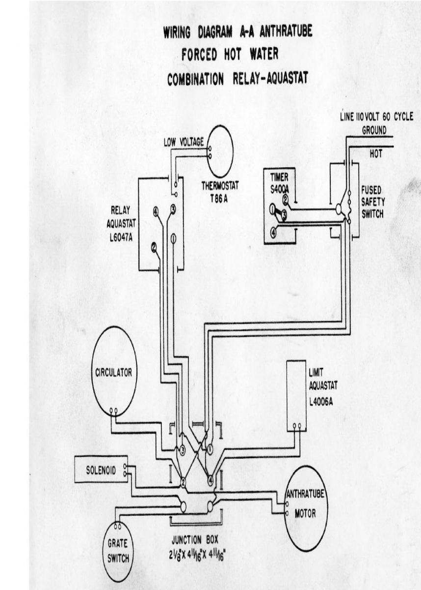 Aquastat Wiring Diagram L8124 Explained Diagrams Honeywell Actuator Triple Schematics