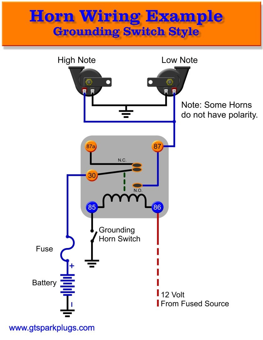 Horn Relay Gnd Schematic 840x 15 Motorcycle Wiring