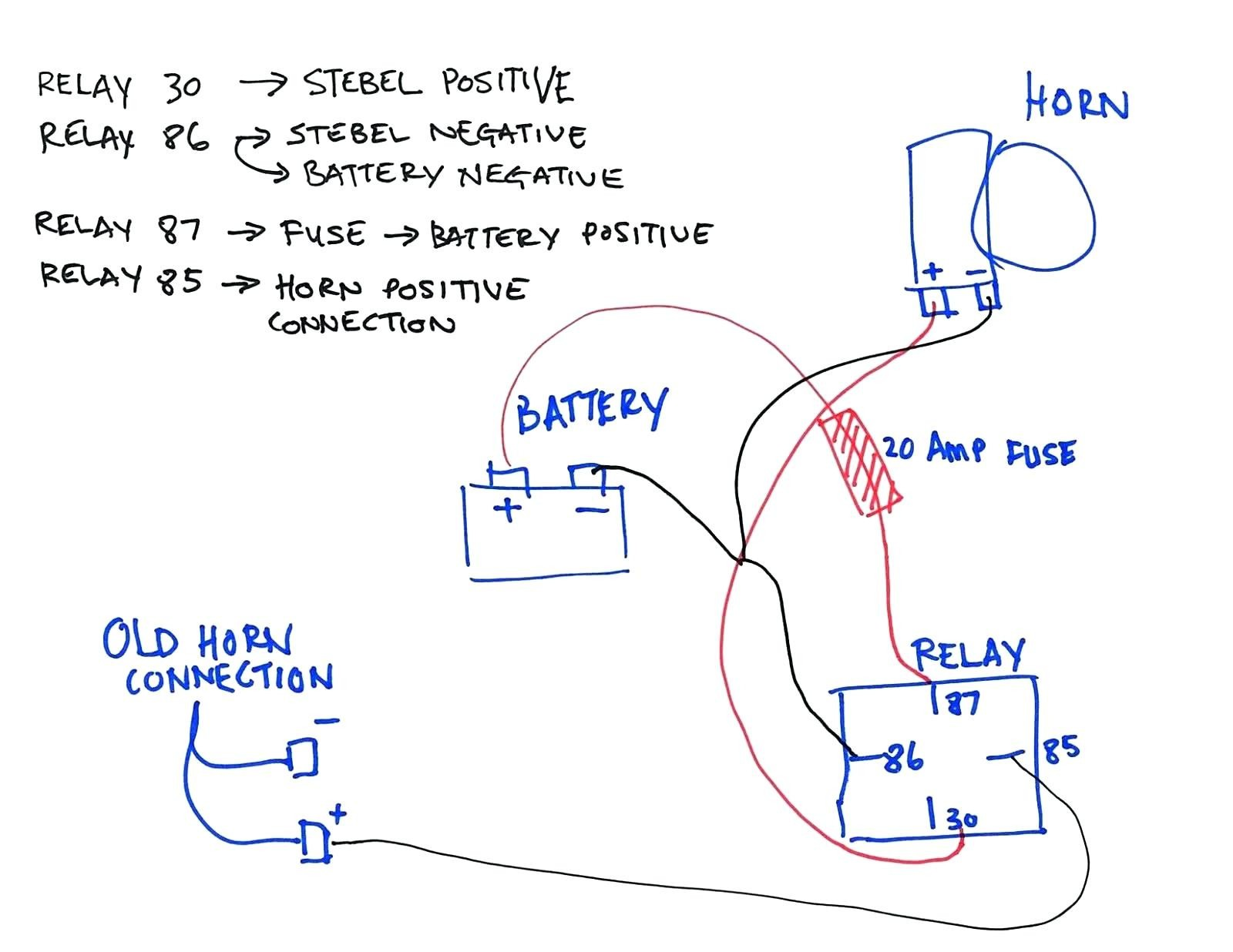 Wiring Diagram For Relay For Horn Refrence Car Horn Wiring Diagram Copy Wiring Diagram Maker Programmable Logic