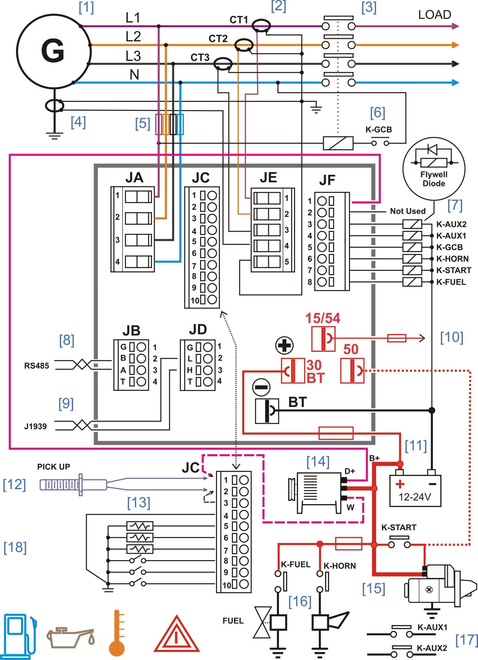 Wiring Diagram Ac Generator New Wiring Diagram Ac Save Diesel Generator Control Panel Wiring