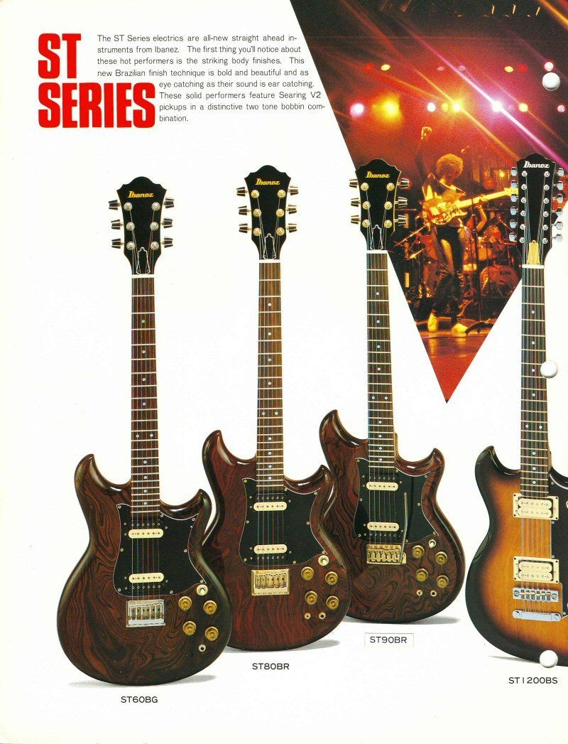1982 Ibanez Blazer and Studio Series Electric Guitars Studio Series Ibanez Catalogs