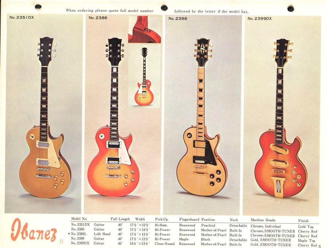 1973 Ibanez Electric Basses & Guitars Ibanez Catalogs Ibanez wiki
