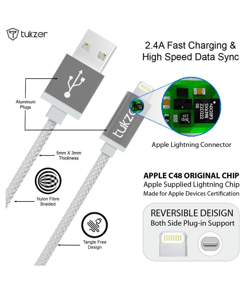 Usb To Lightning Wiring Diagram Library Iphone Charger Circuit Tukzer Premium 8 Pin Mfi Certified Cable For Apple Ipad And Ipod