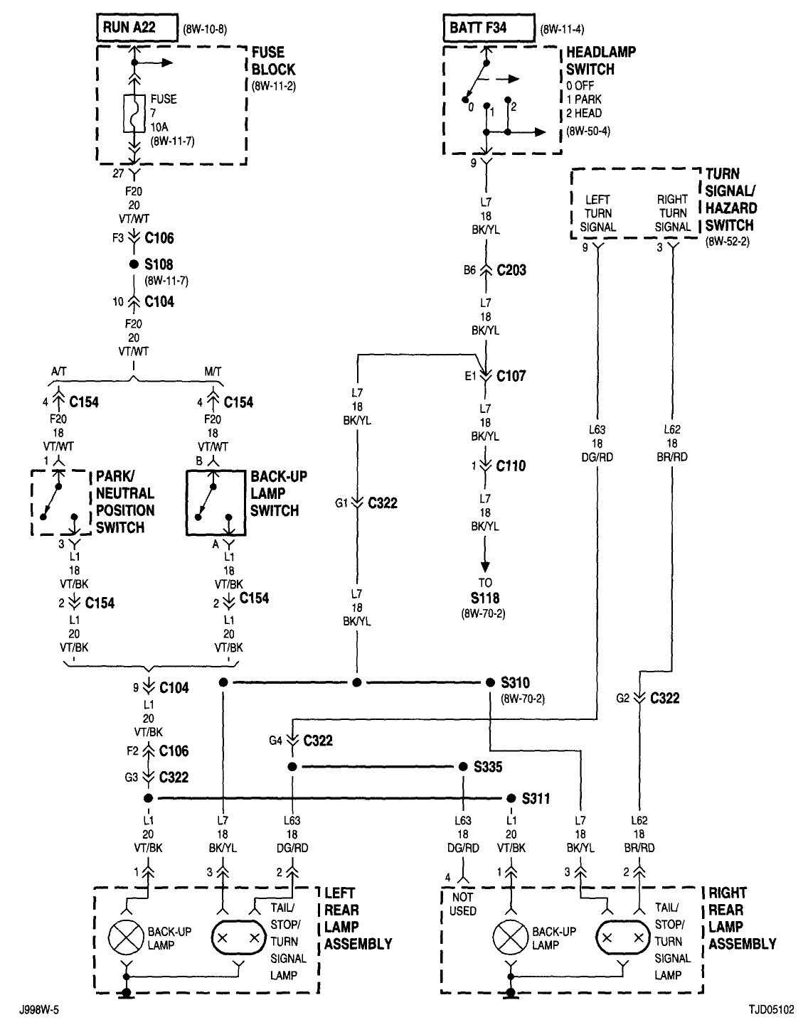 1999 mustang tail light wiring diagram