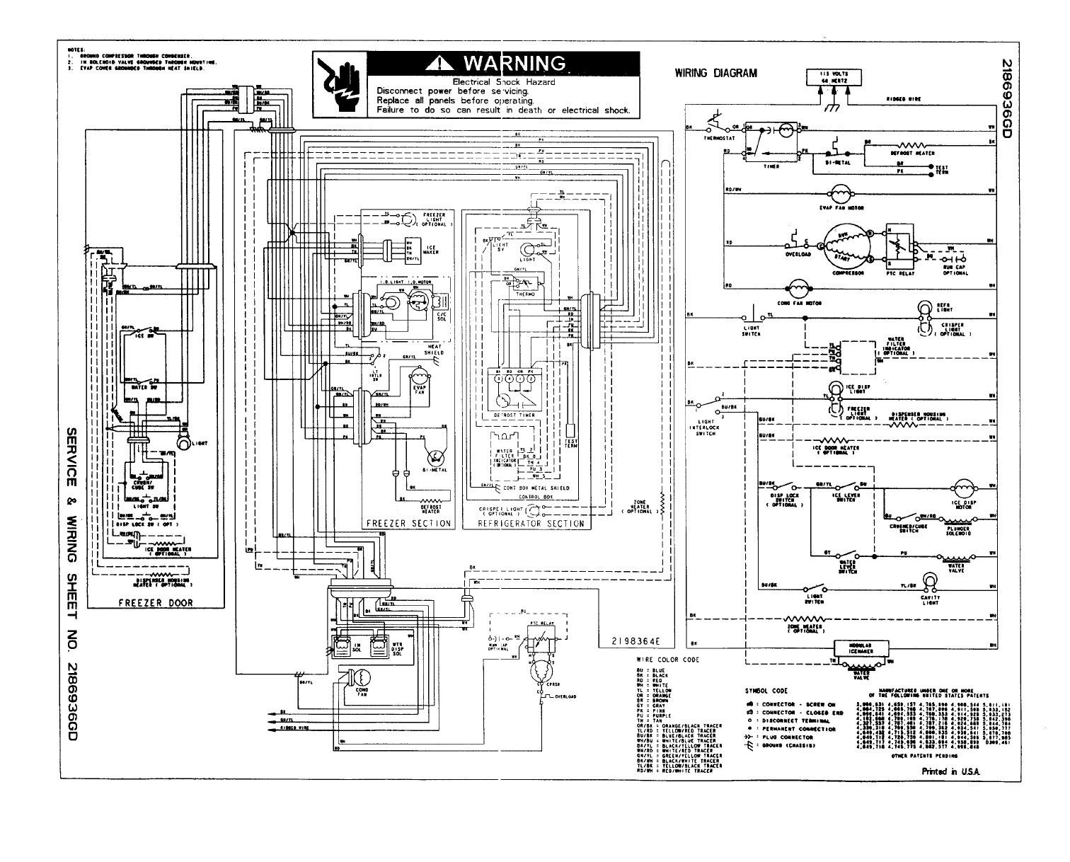 Generous Kenmore Refrigerator Wiring Diagram Contemporary Best Elite