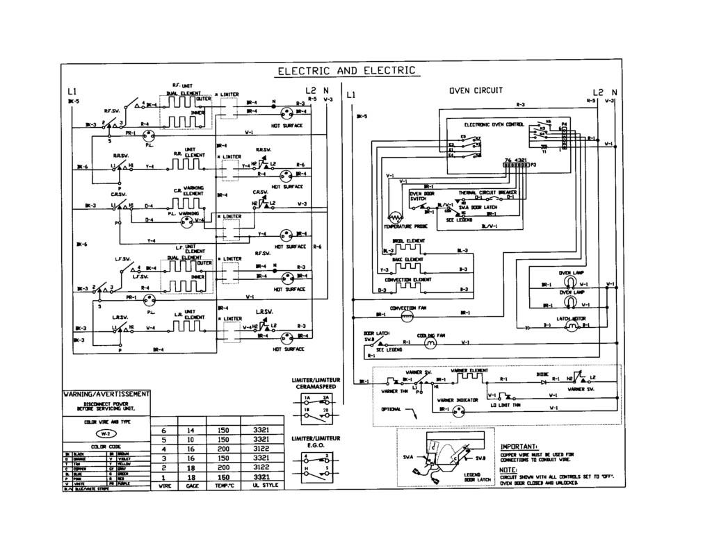kenmore stove wiring diagram