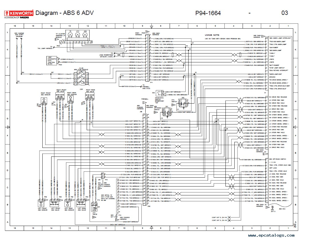 Kenworth T680 Wiring Diagram - Wiring Diagram Library