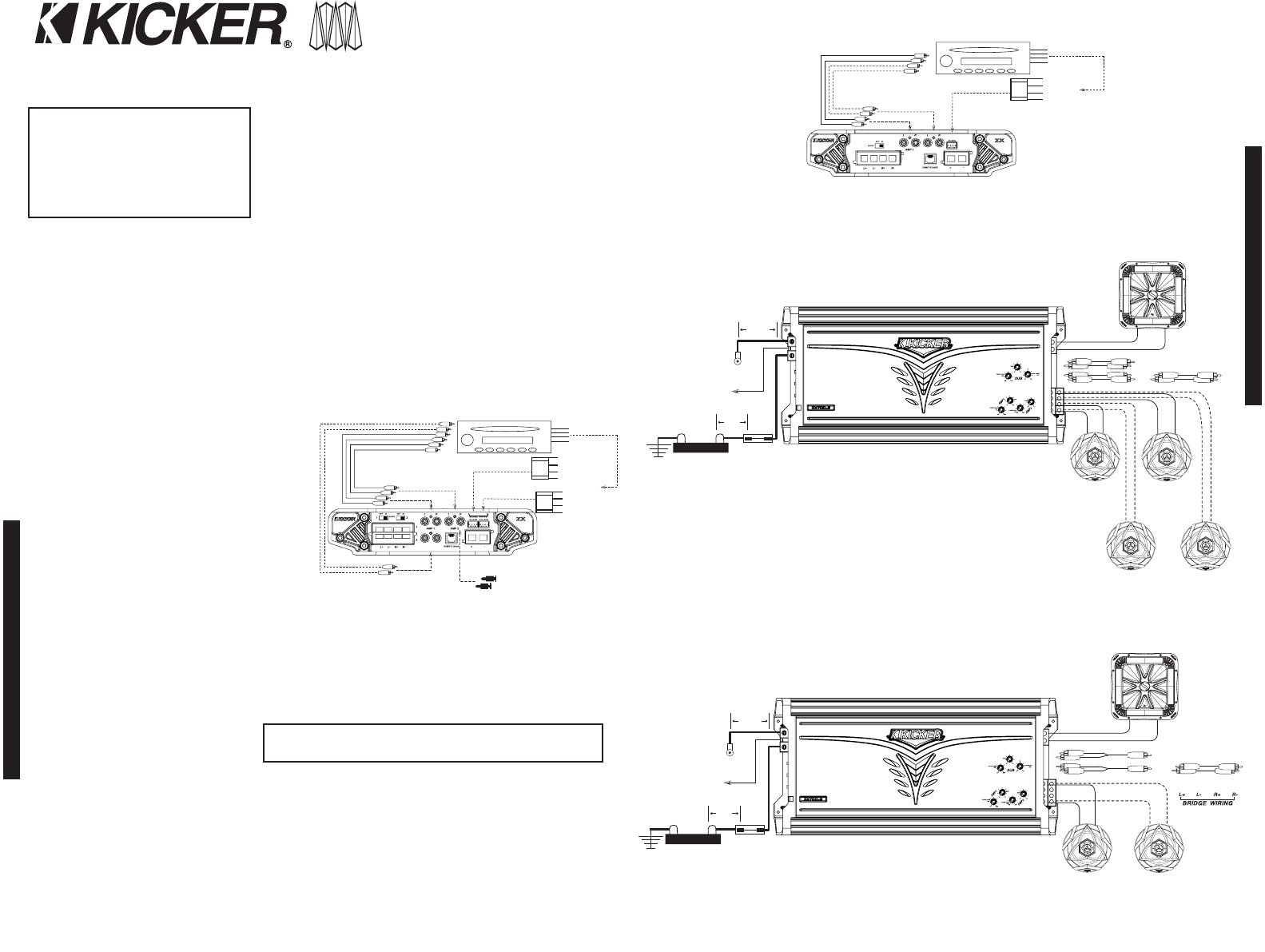 Kicker Powered Subwoofer Wiring Diagram - Wiring Solutions on kicker l7 4 ohm wiring diagram, kicker speaker wire, kicker speaker cable, mini chopper wiring diagram, kicker comp wiring diagram, kicker speaker cover, kicker speaker system, kicker car stereo,
