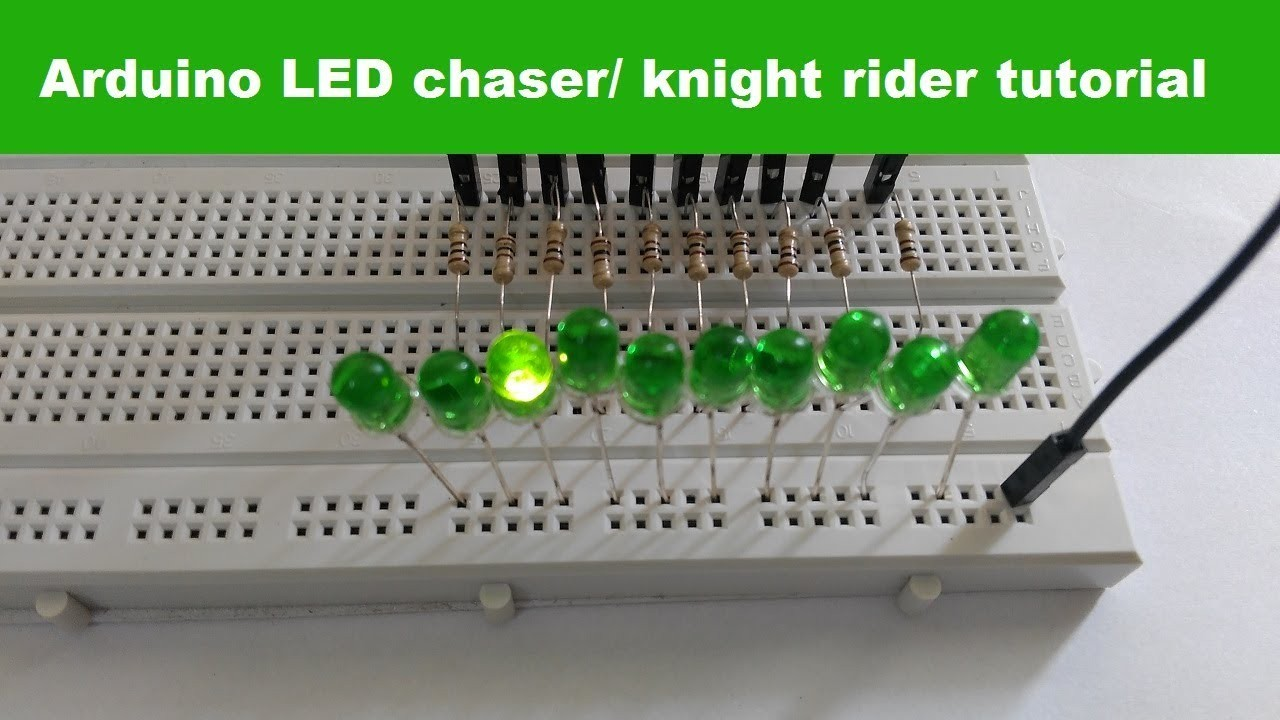 Arduino led chaser Knight rider circuit TUTORIAL