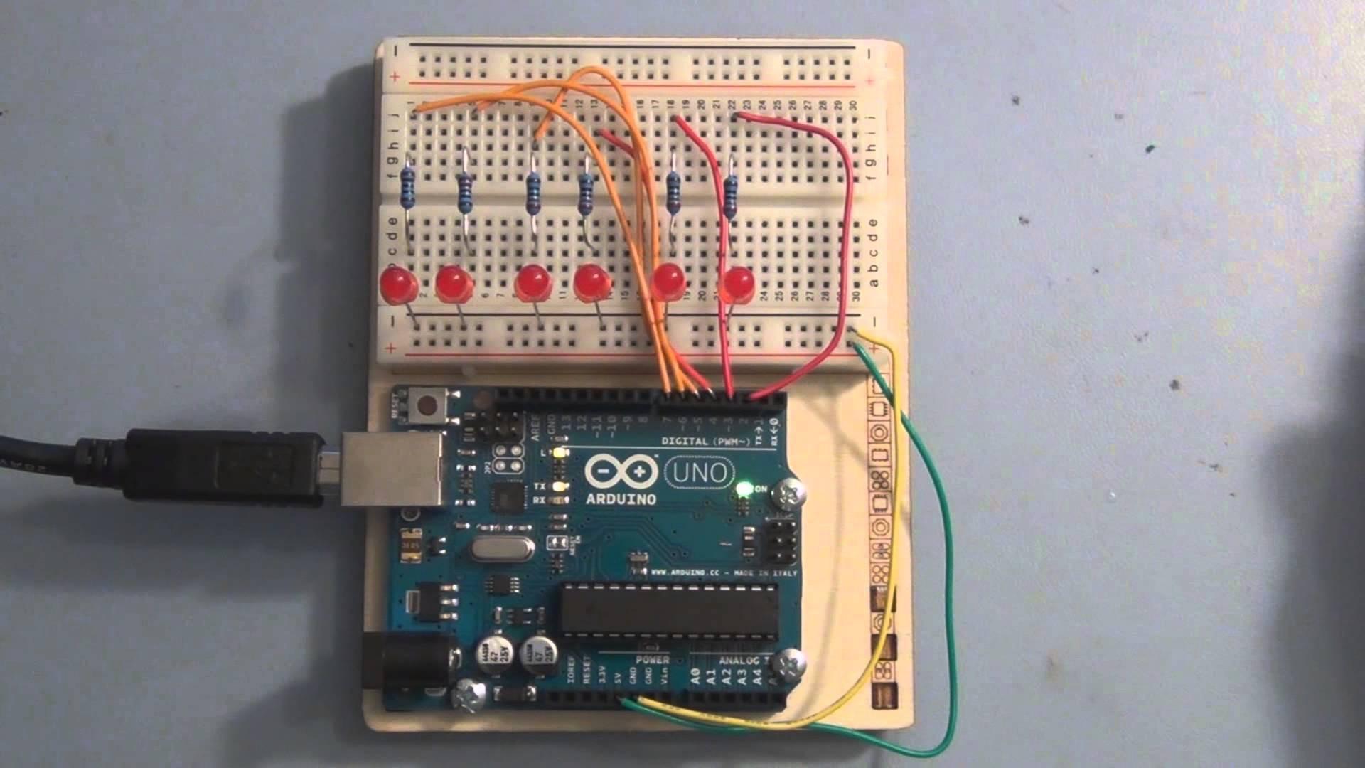 Arduino Knight Rider LED s Example
