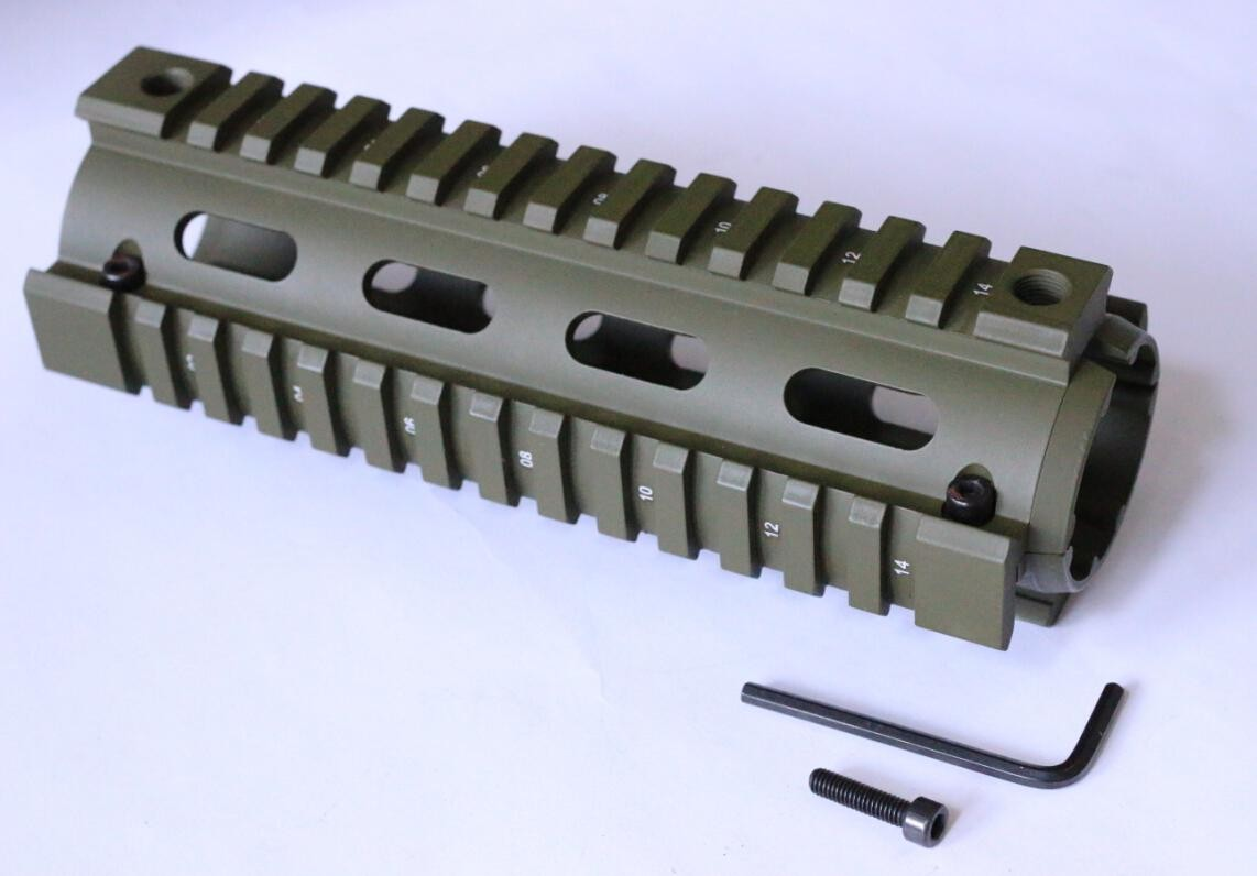 NATOARMS NA MTS0007 G OD GREEN Quad Rail Hand Guard For CAR Size 7