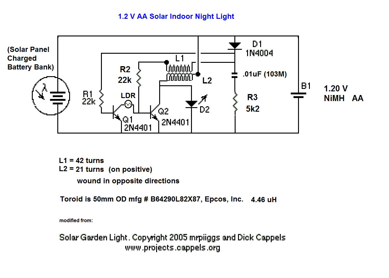 Solar Led Light Circuit Diagrams the Krell Lab Aa Nimh Ambient solar Indoor Charger and