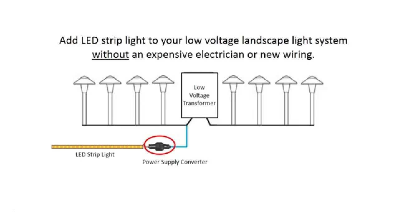 Installing Led Strip Lights With Your Low Voltage Landscape Light For Outdoor Lighting Wiring Diagram