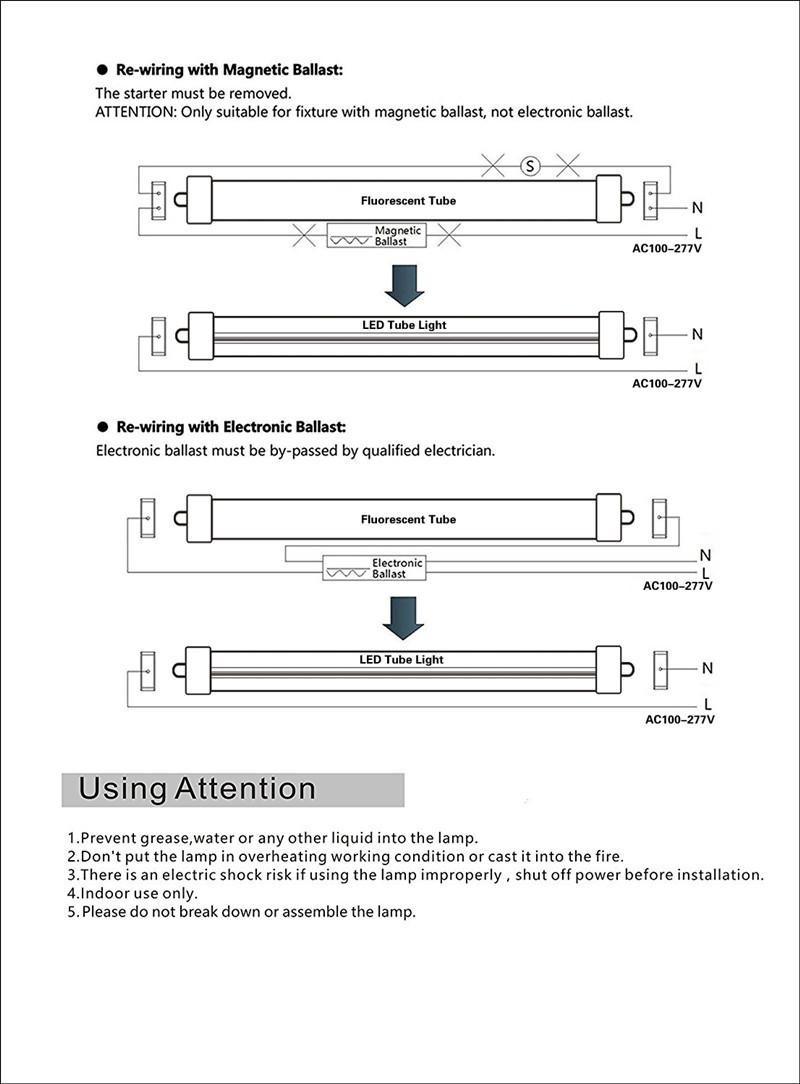 25 Pack T8 LED Tube Light 8ft 45W Single Pin FA8 Base