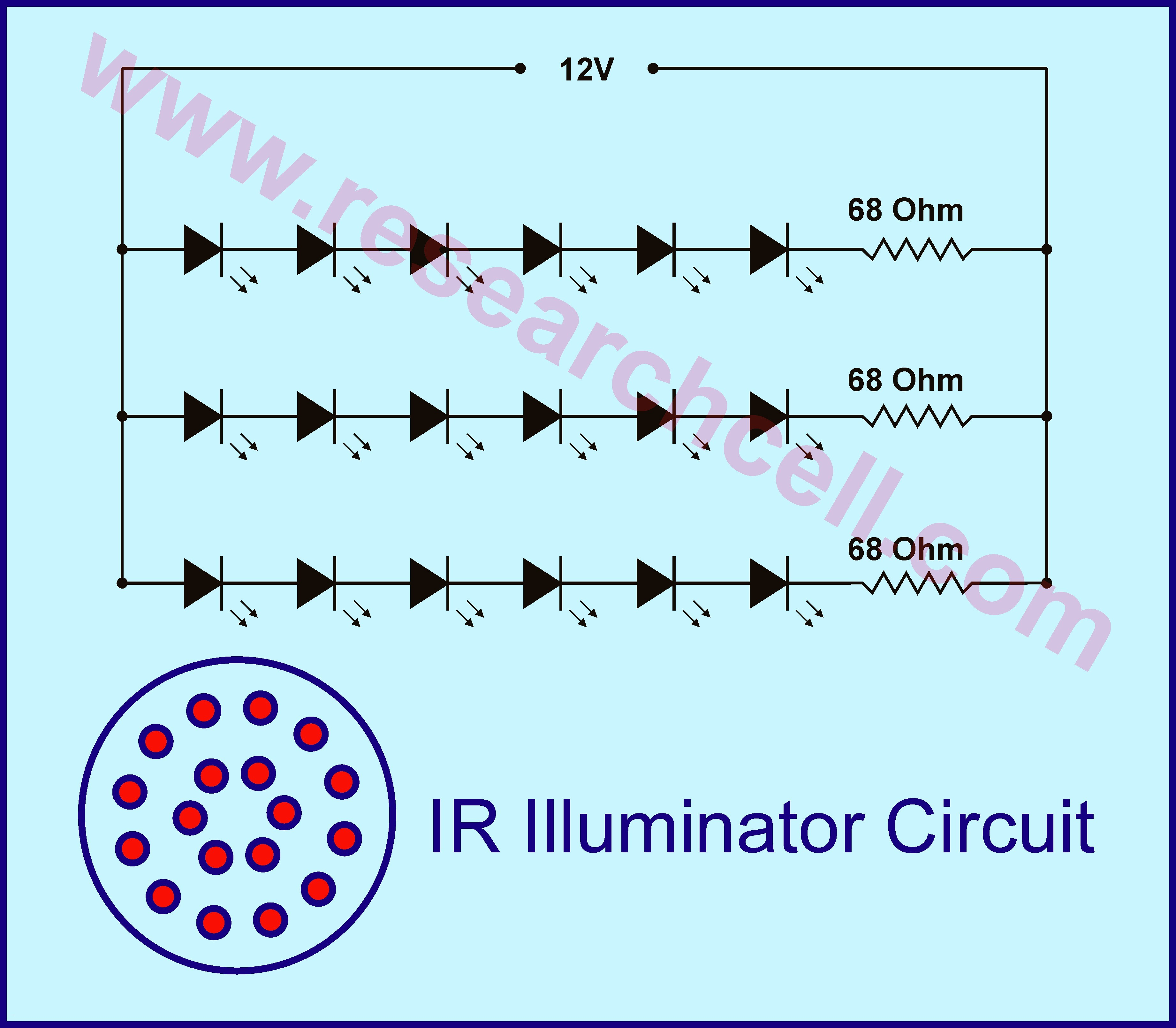 Circuit Diagram Battery Best Ponent Led Circuit Diagrams for the Od Infrared Page Light Laser