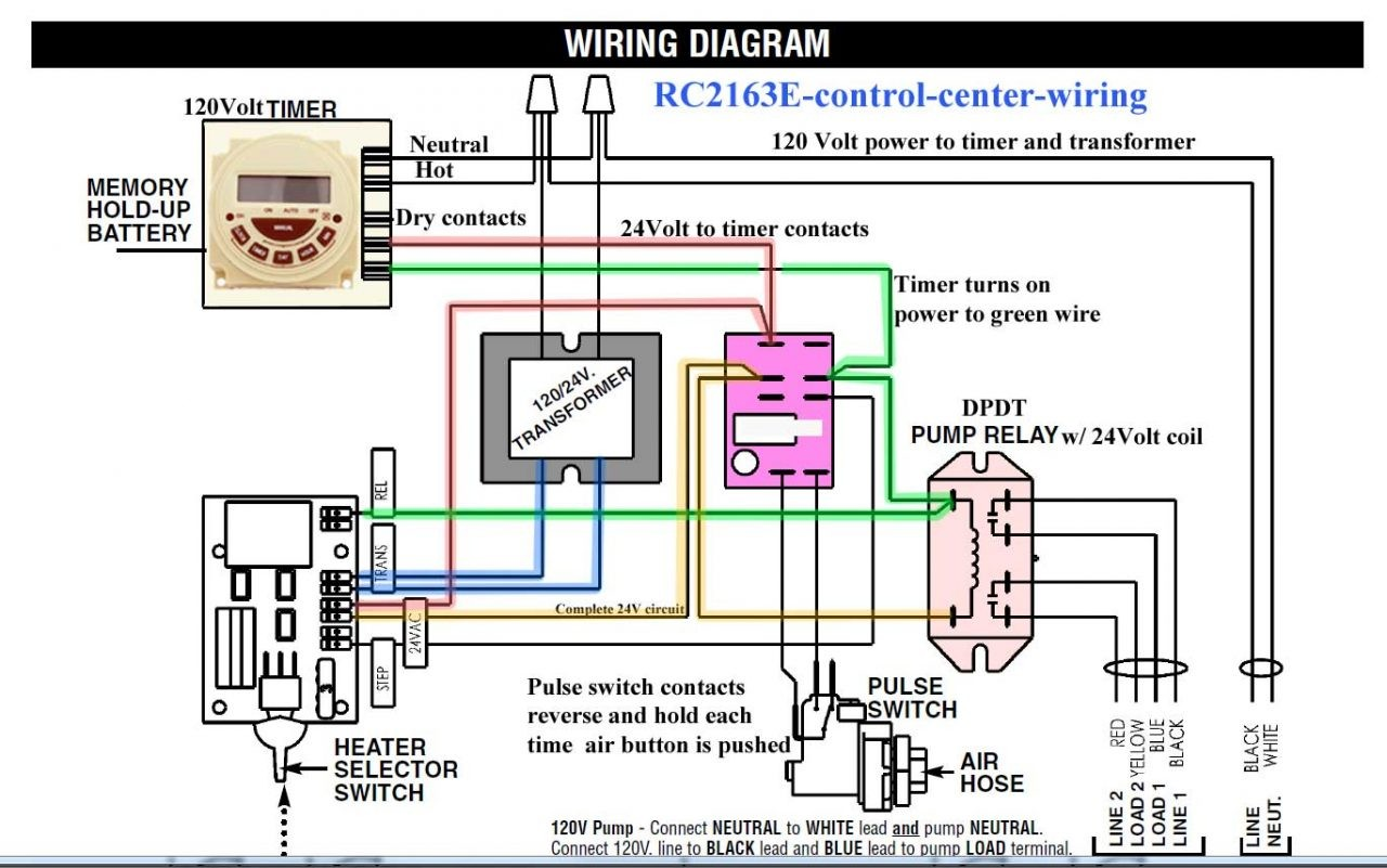 Lighting Contactor Wiring Diagram With cell Rc2163e Control Center Intermatic Clock Timer Circuit T103 T104m 1280