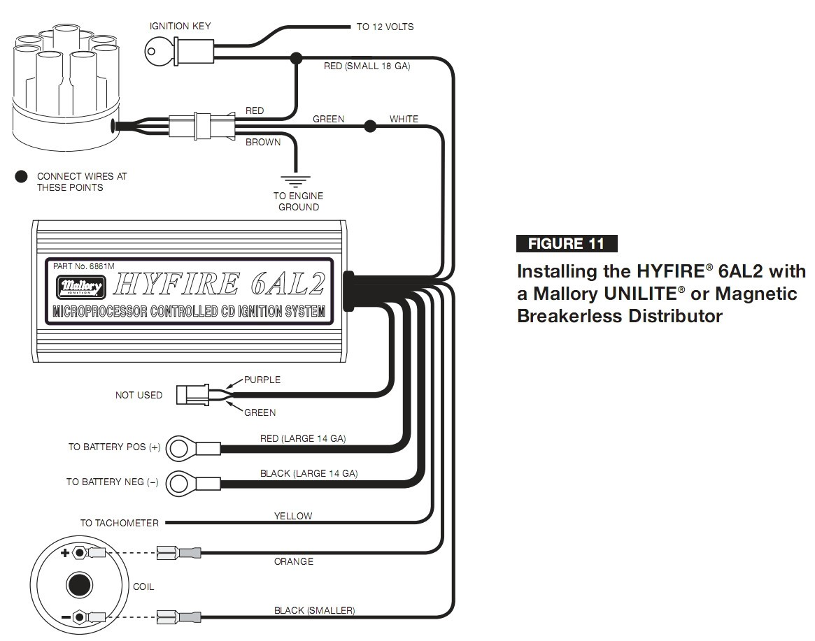 Mallory Unilite Wiring Diagram With Ignition At Distributor Best Fine Magnetic