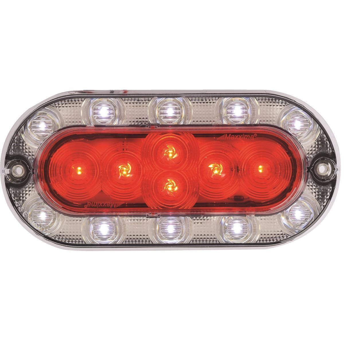MAXXIMA Hybrid Lightning LED Stop Tail Turn Back Up Light Oval