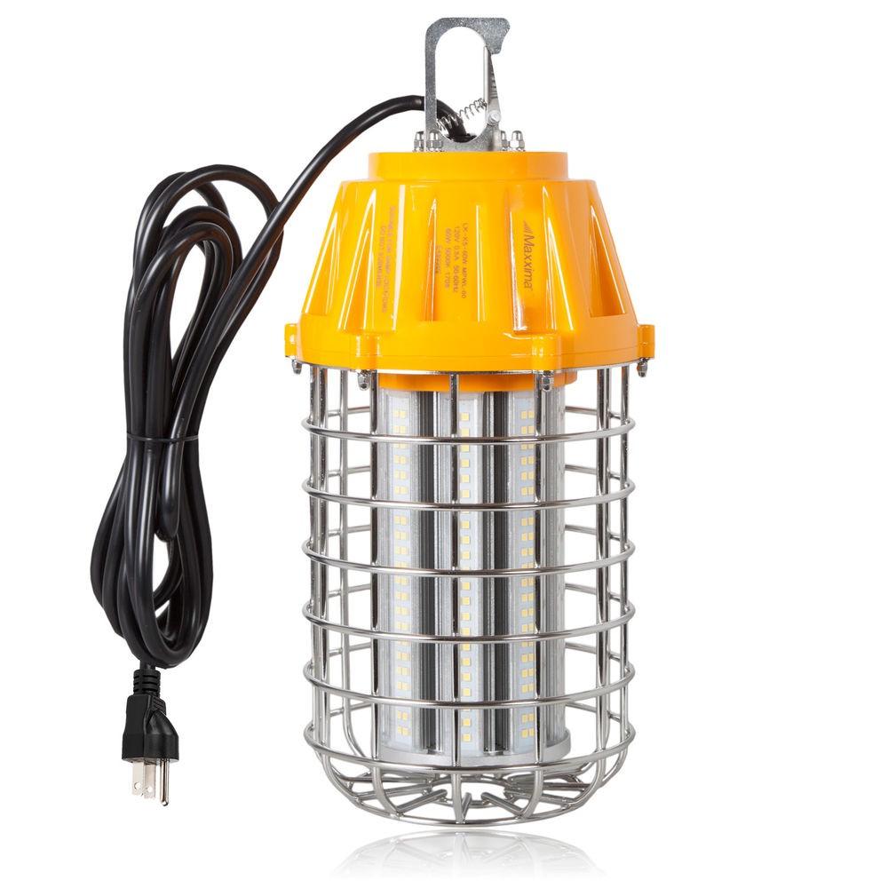Maxxima High Bay LED Temporary Work Light Fixture 60 Watt 7 200 Lumens 5000K