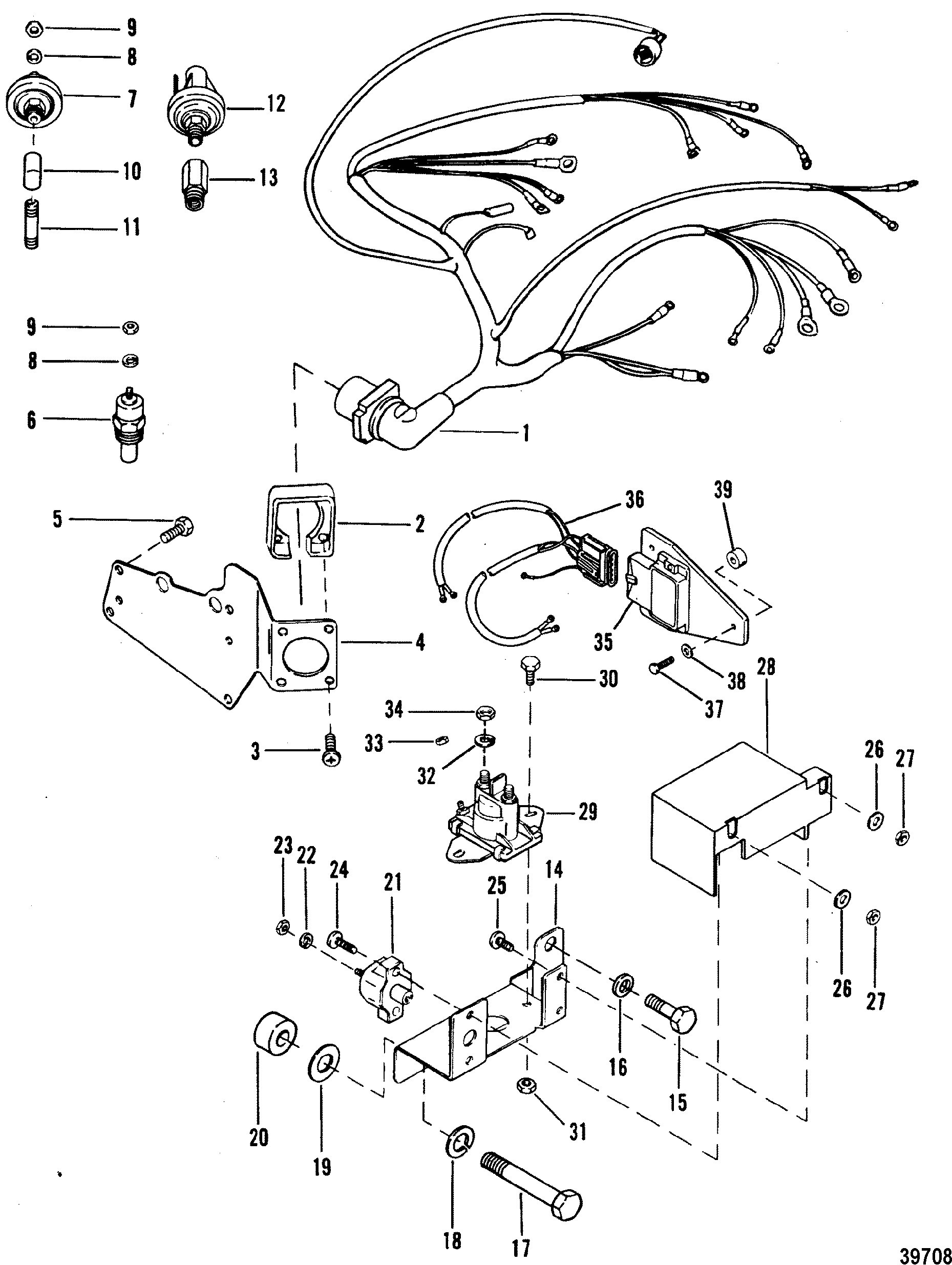 Mercruiser 4 3 Wiring Diagram Awesome Wiring Harness and Electrical Ponents for Mercruiser 4 3l 4 3lx