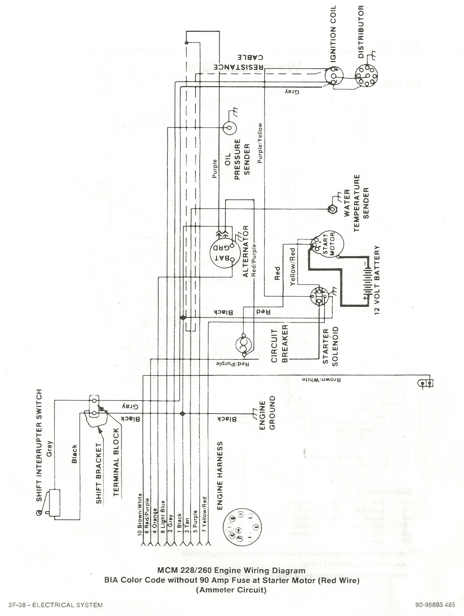 ... 165 mercruiser shift interrupt switch wiring diagram explained rh  dmdelectro co Mercruiser 4 3 Engine Diagram