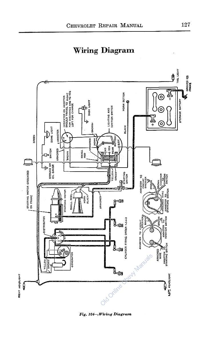 Wiring Diagram For 1925 Chevrolet Superior Models Series K Wire Automotive Wiring  Diagrams 1928 Chevrolet Wiring Diagram