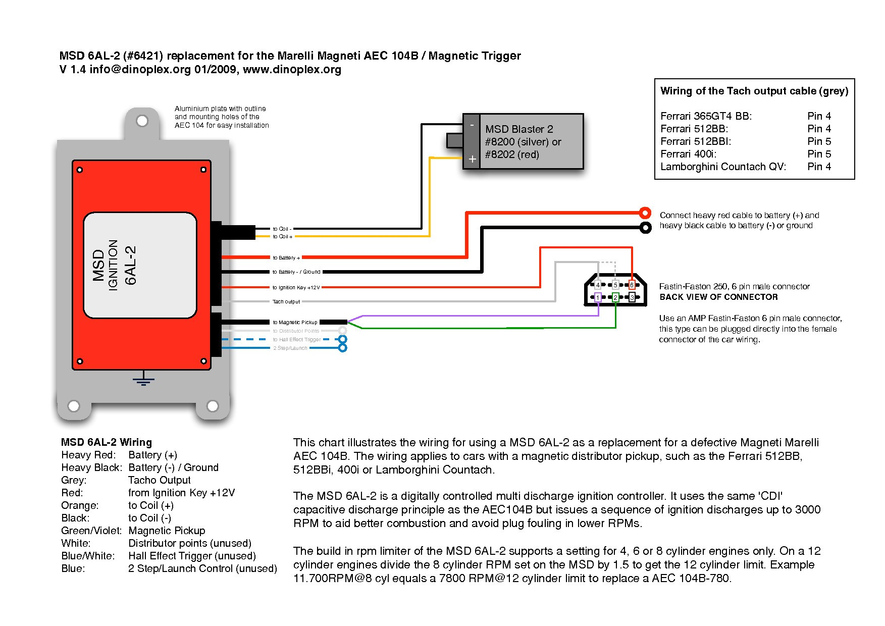 Wiring Diagram Msd 6al Ford MSD Ignition Box For Katherinemarie Me Remarkable