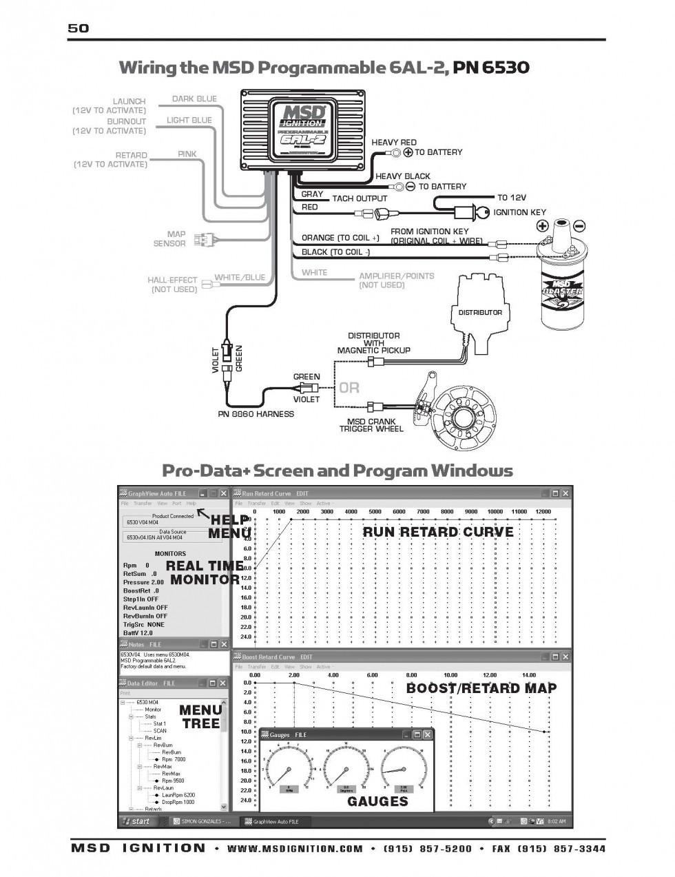 Regular Msd 6Al 2 Wiring Diagram Diagrams Brilliant 6al
