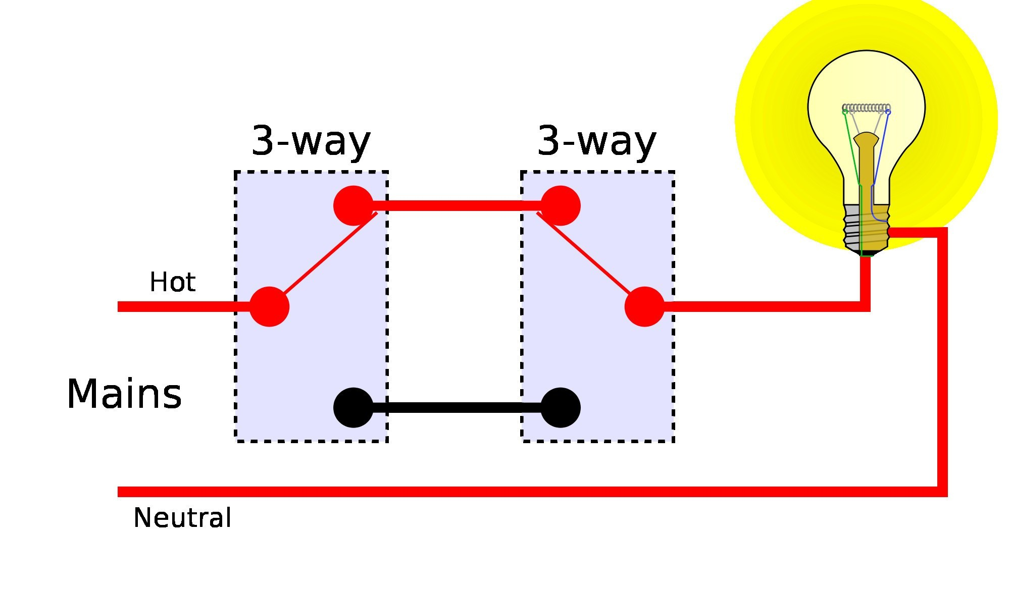 Wiring Diagram For 3 Way Switches Multiple Lights Inspirationa Wiring Diagram For Light With Two Switches Save Two Way Switch