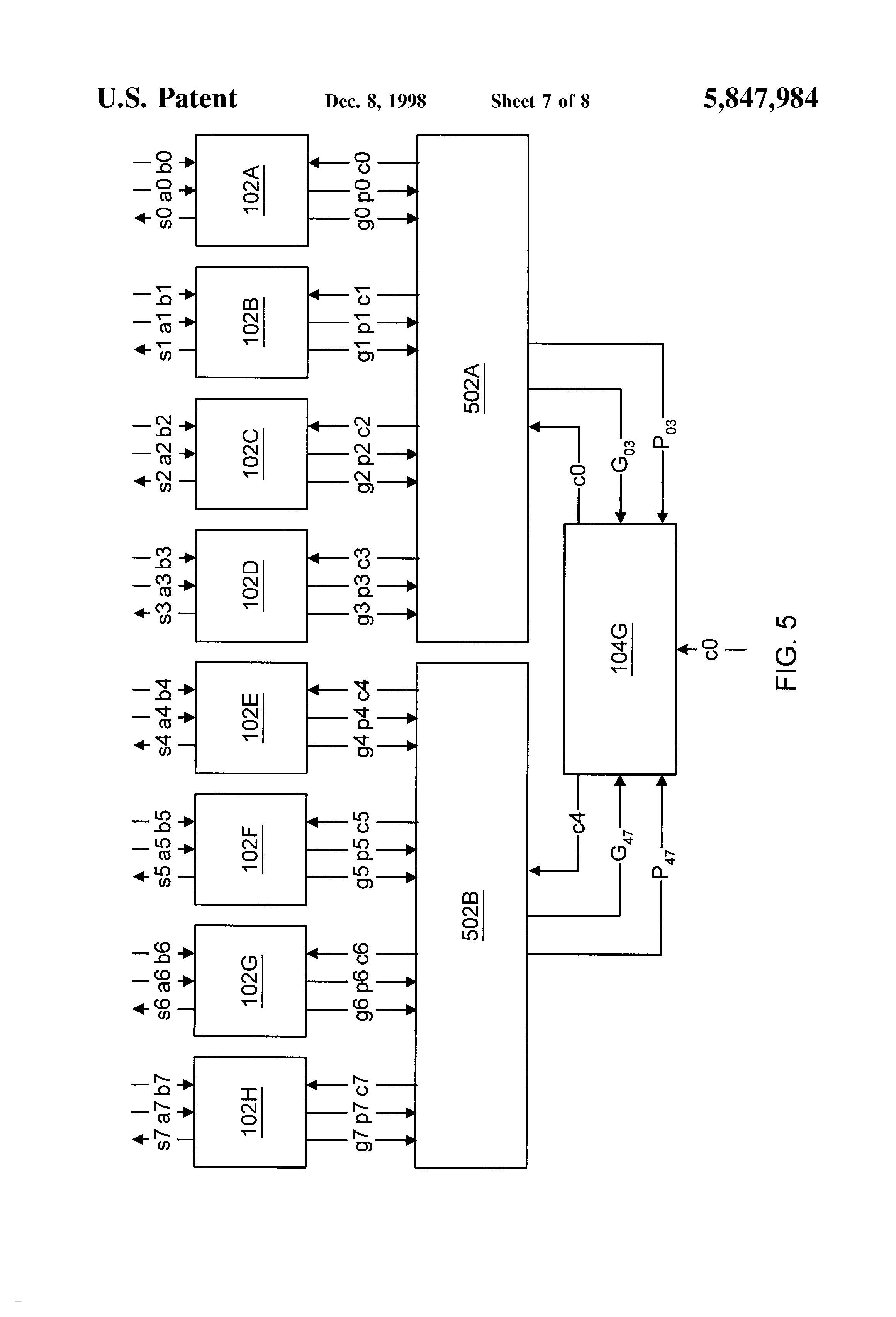 Diagram Circuit New Patent Us Multiplexer Based Parallel N Bit Adder Drawing