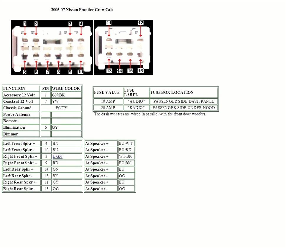 2004 Nissan Titan Wiring Diagram Schematic