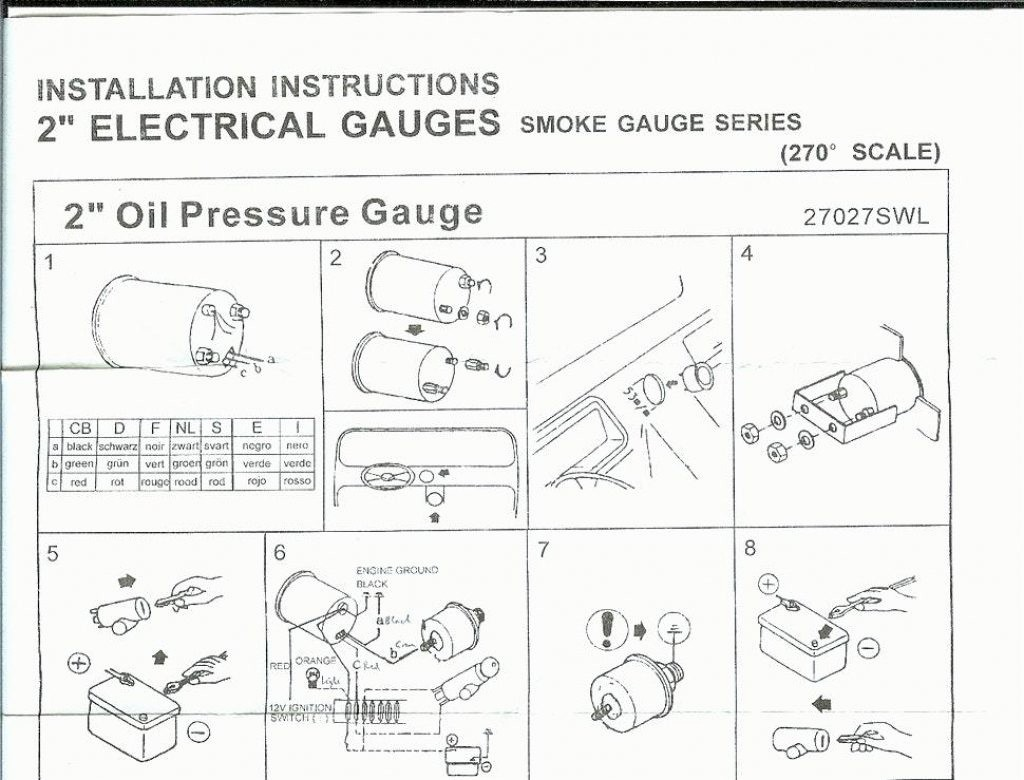 Vdo Gauge Wiring Diagram Detailed Schematic Diagrams Ammeter Oil Pressure Page 4 And Hour Meter