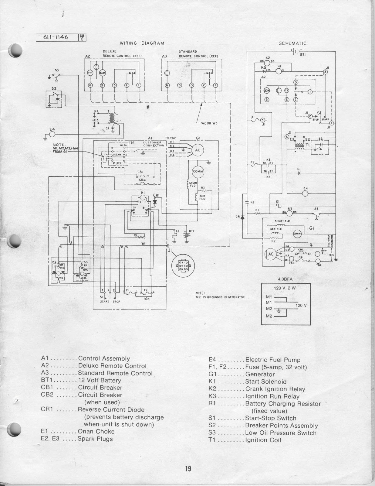 Onan 45 Bgd Emerald Generator Wiring Diagram Schematic Diagrams 40cck For 4500 Schematics 6000 Rv