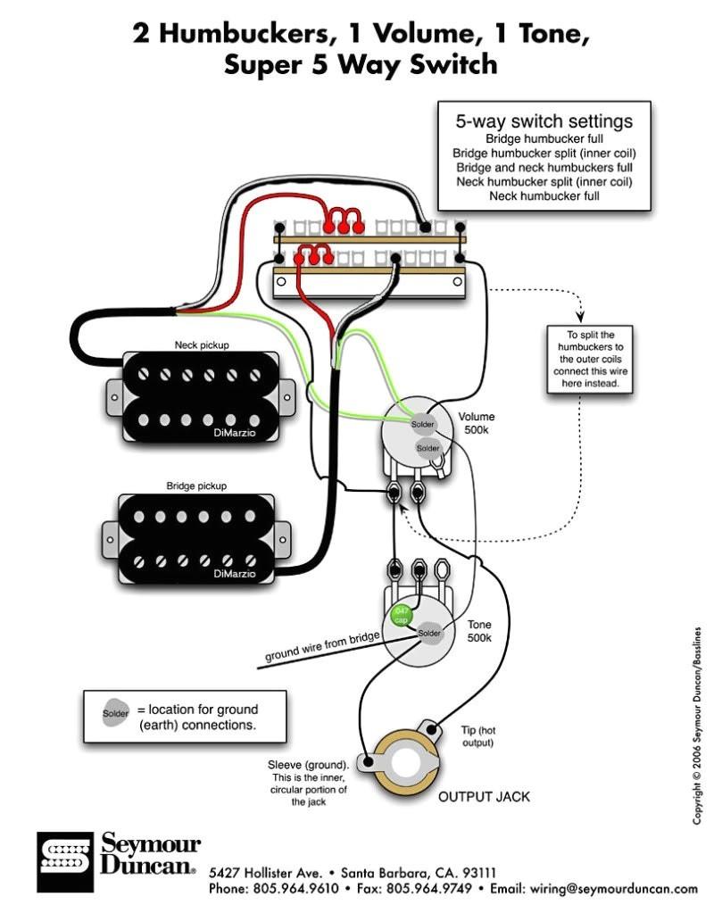 Dimarzio Wiring Diagram The Ultimate Guitar Thread 2 Humbucker 1