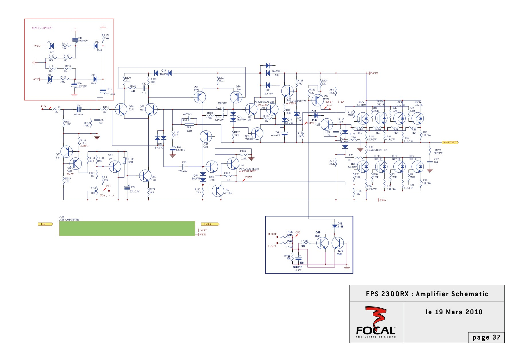 FPS 2300RX Amplifier Schematic
