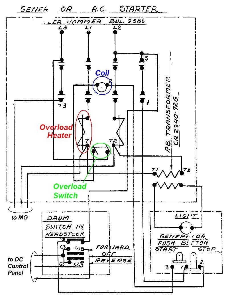 cutler hammer contactor wiring diagram wire center u2022 rh hitch co AC Contactor Wiring Diagram Contactor