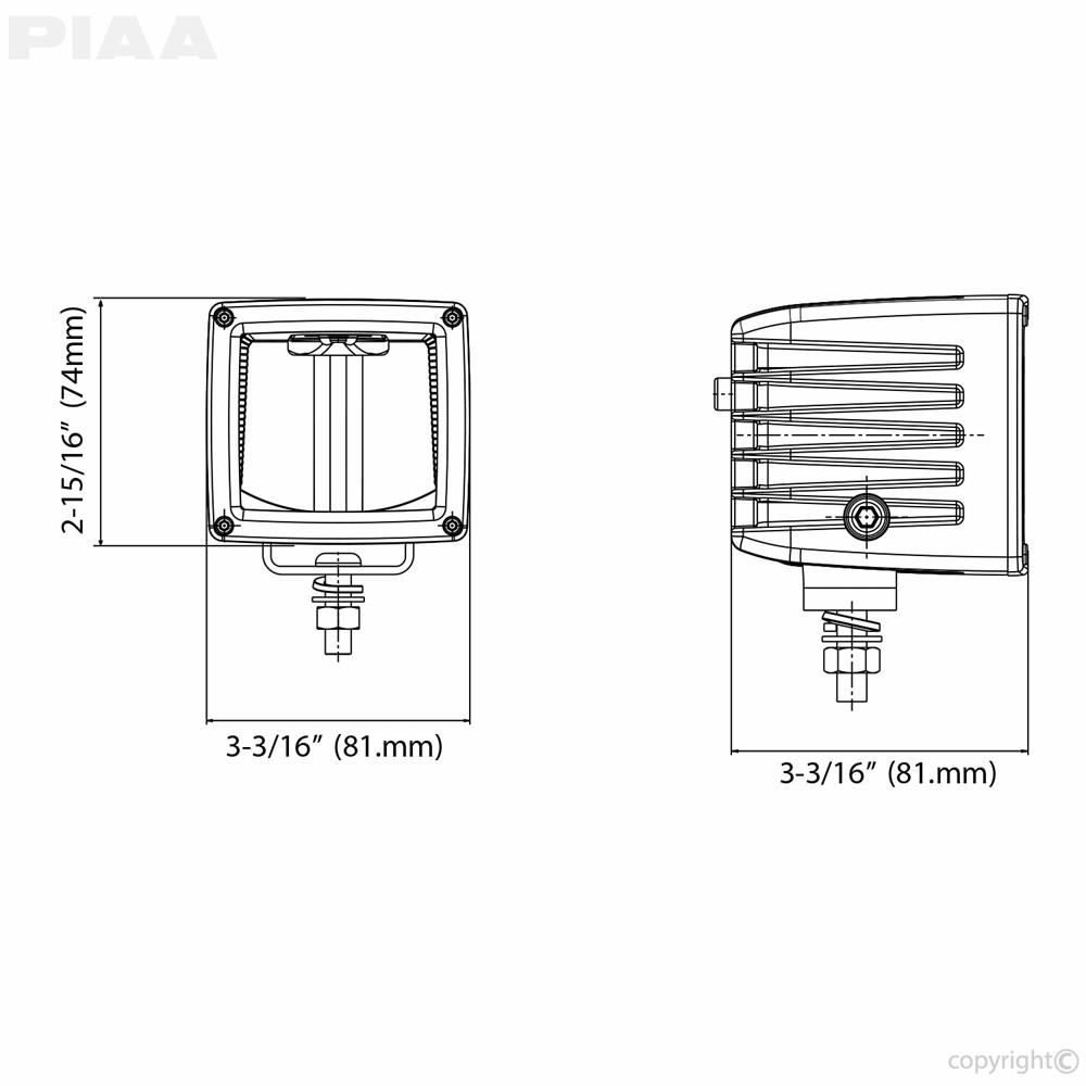 PIAA RF3 Driving Beam LED Light Spec View