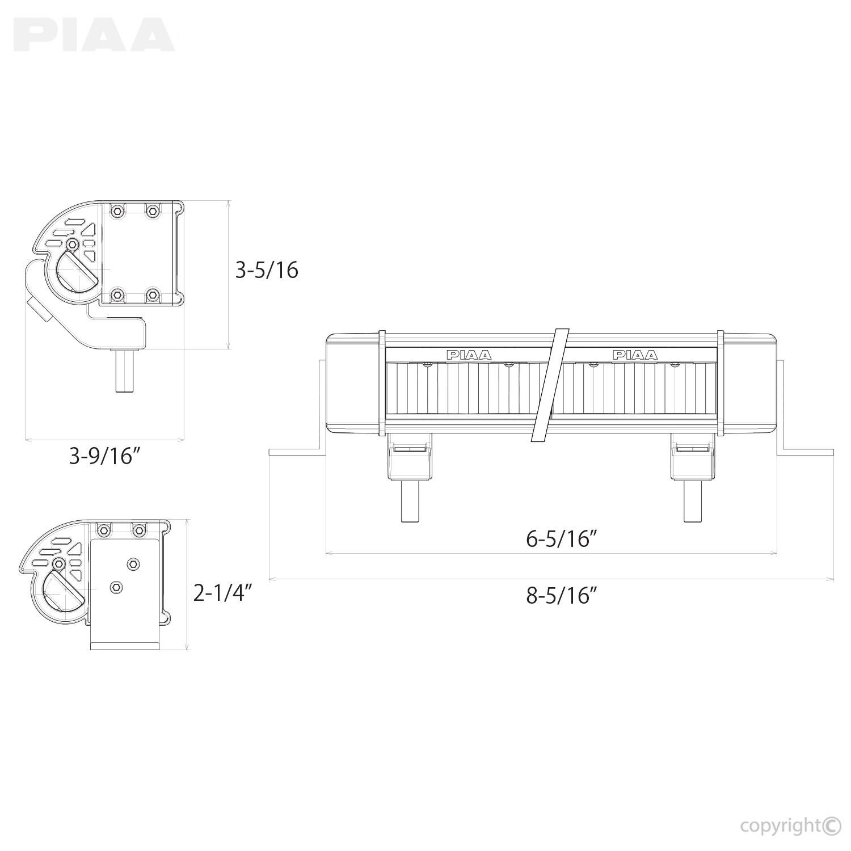 """RF Series 6"""" LED Light Bar Fog Beam Kit 7206"""