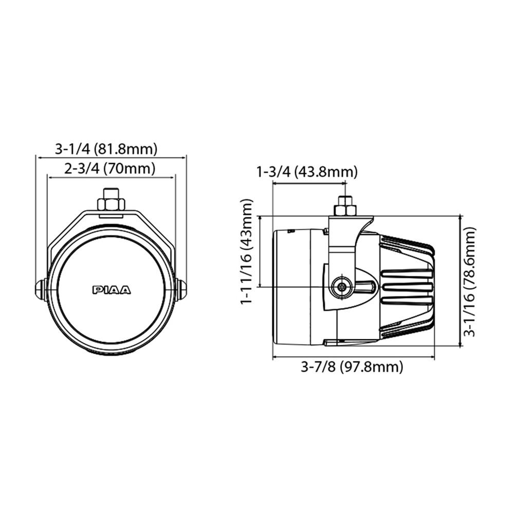 """LP270 2 75"""" LED Driving Light Kit SAE pliant"""