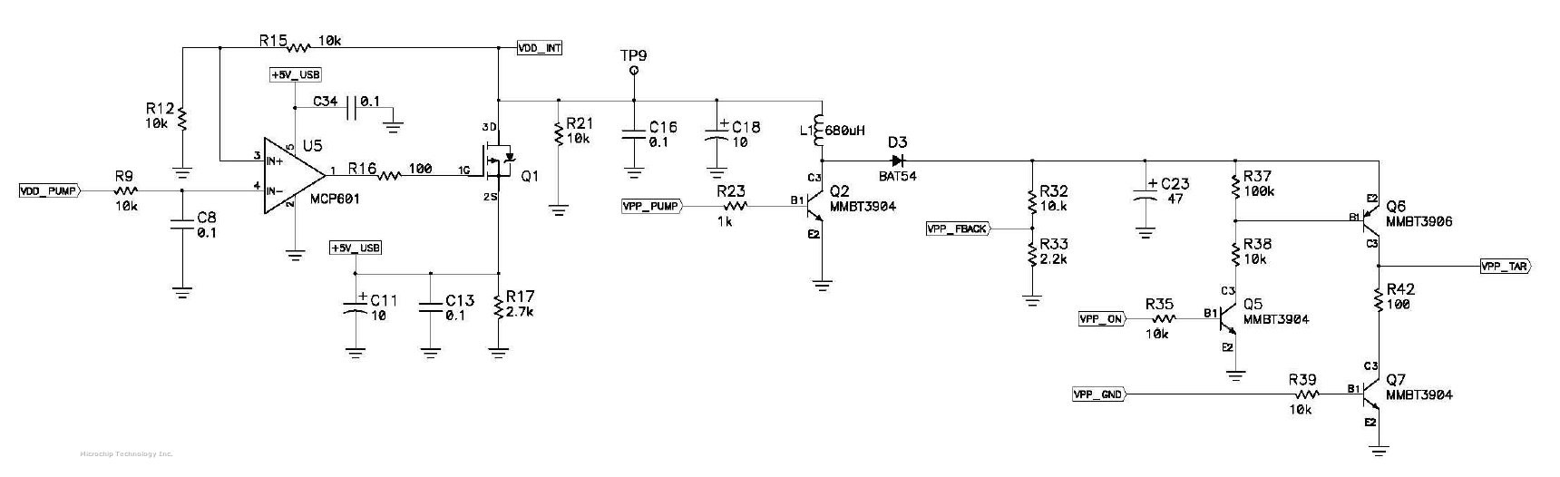 The problem seems realted with VPP circuit inside PICkit 3 more exactly next I O VPP PUMP VPP FBACK VPP ON VPP GND