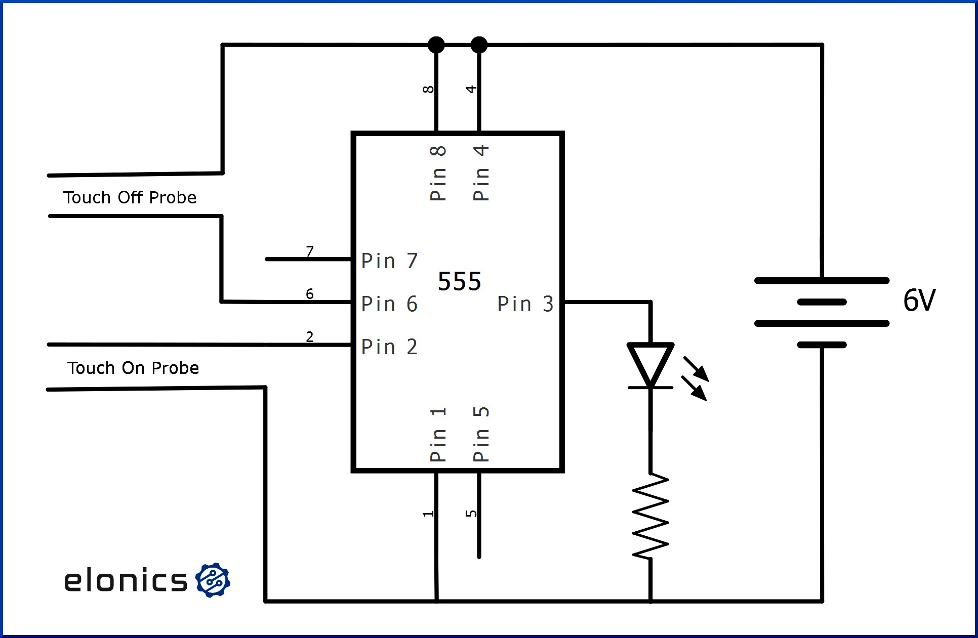Delightful Touch f Switch Using Timer Ic Elonics Circuit Schematic Full Full size