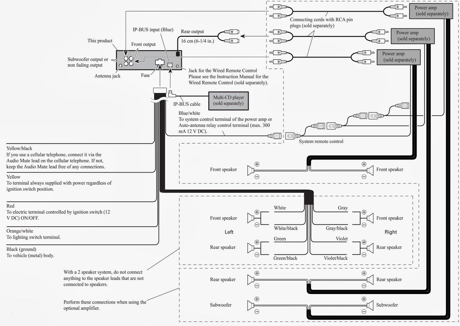 ... pioneer avh p2400bt wiring diagram best of wiring diagram image Pioneer  AVH 2400Bt pioneer deh 1600