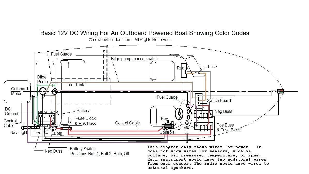 Pontoon Boat Wiring Diagram Bennington Trolling Motor Volt And