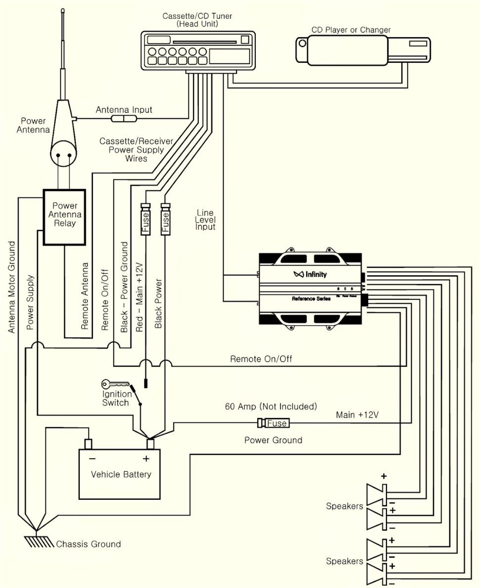 Amplifier Wiring Diagram Parallel Speaker Channel Amp Wire Connect