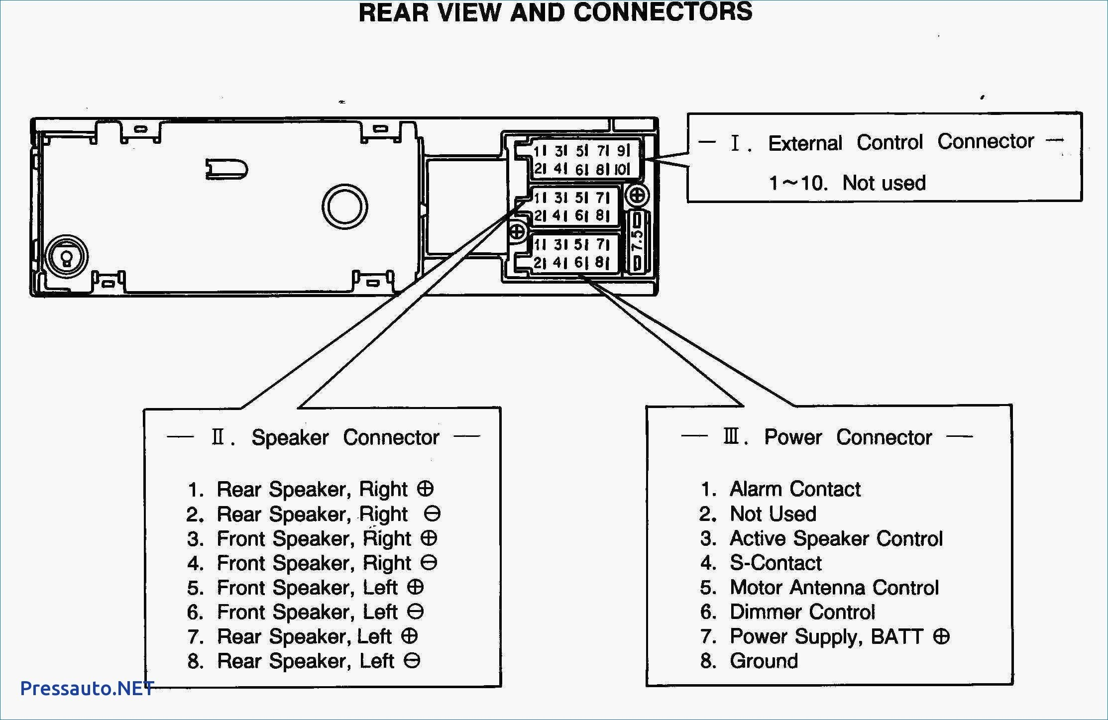 Wiring Diagram for Electric Car Aerial New Car Stereo Wiring Harness Diagram Speaker Wire Diagram