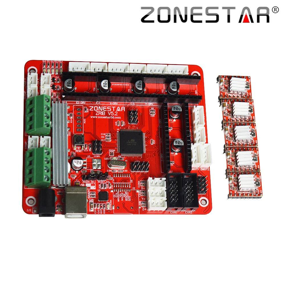 ZONESTAR 3D Printer Controller Control Board Motherboard ZRIB patible With Ramps V1 3 V1