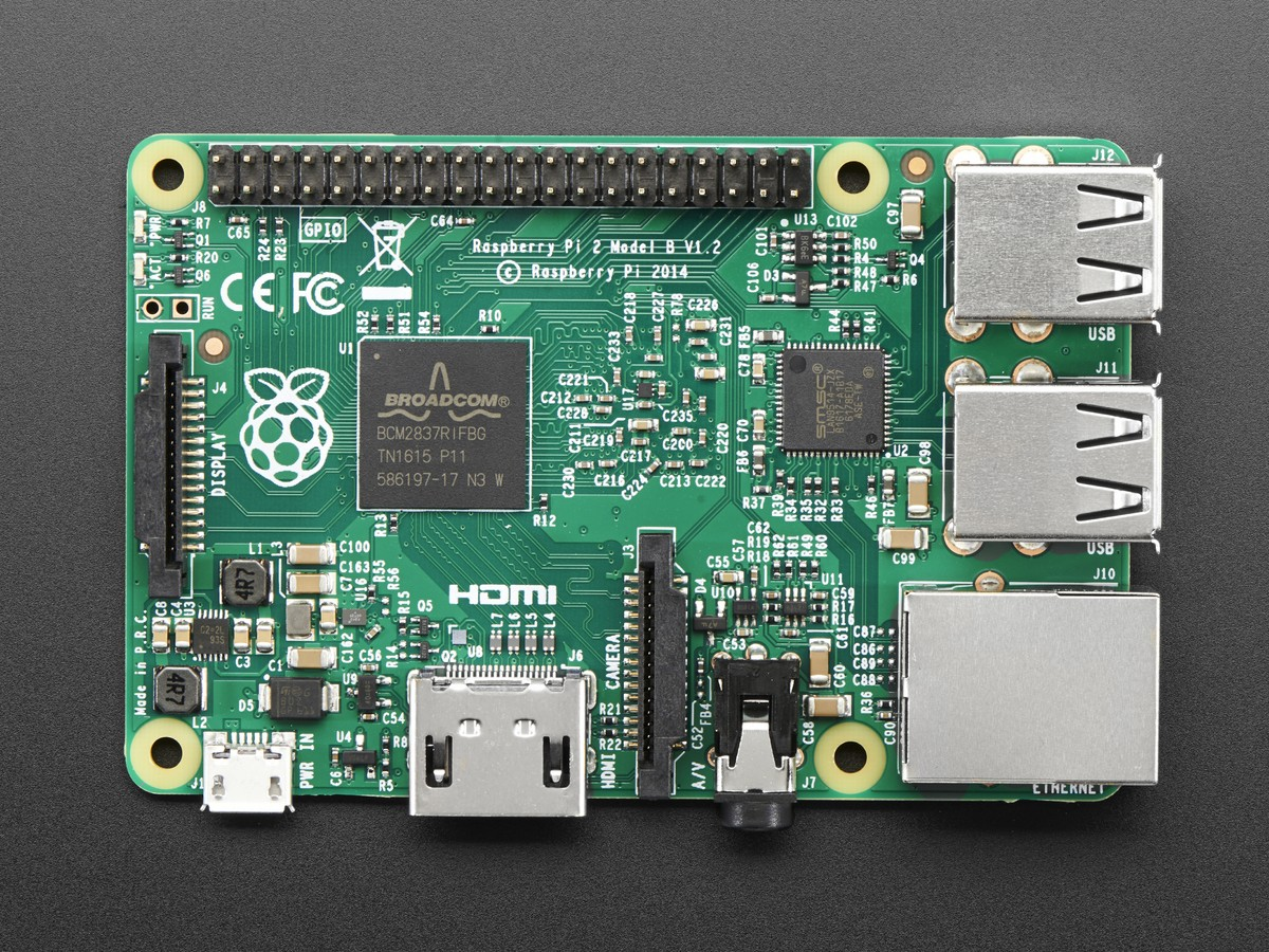 Raspberry Pi 2 Model B v1 2 ARM Cortex A53 with 1G